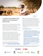 Climate Information Services Research Initiatives