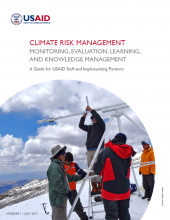 Climate Risk Management: Monitoring, Evaluation, Learning and Knowledge Management