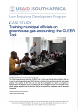 Case Study - Training municipal officials on greenhouse gas accounting: the CLEER Tool photo