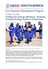 Case Study - Auditing for Energy Efficiency: Students Conduct Energy in Polokwane photo