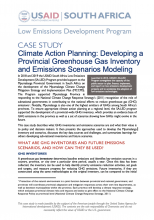 Case Study - Climate Action Planning: Developing a Provincial Greenhouse Gas Inventory and Emissions Scenarios Modeling