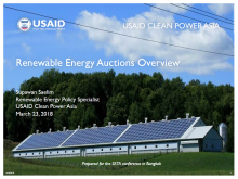 Renewable Energy Auctions Overview