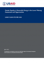 Gender Equality in Renewable Energy in the Lower Mekong: Assessment and Opportunities