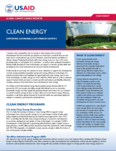Clean Energy: Supporting Sustainable Low Emission Growth