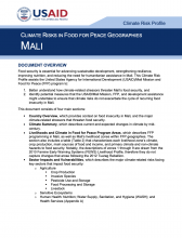 Climate Risks in Food for Peace Geographies: Mali