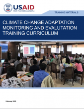 Climate Change Adaptation Monitoring and Evaluation Training Curriculum photo