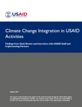 Climate Change Integration in USAID Activities