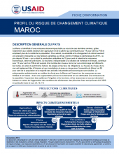Climate change risk profile: Morocco (French version)