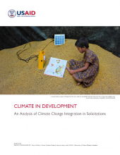 Climate in Development: An Analysis of Climate Change Integration in Solicitations