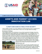 Climate Integration Case Study: Assets and Market Access Innovation Lab