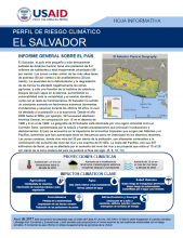 Climate Risk Profile: El Salvador (Spanish)