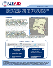 Climate Change Risk Profile - Climate Risk Screening for Food Security: Democratic Republic of Congo