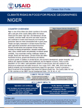 Climate Risks in Food for Peace Geographies: Niger