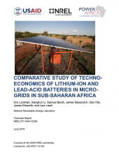 Comparative Study of Techno-Economics of Lithium-Ion and Lead-Acid Batteries in Micro-Grids in Sub-Saharan Africa Photo