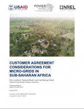Customer Agreement Considerations for Micro-Grids in Sub-Saharan Africa Photo