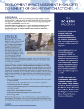 Development Impact Assessment Highlights Co-Benefits of GHG Mitigation Actions