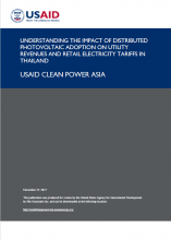 Understanding the Impact of Distributed Photovoltaic Adoption on Utility Revenues and Retail Electricity Tariffs in Thailand