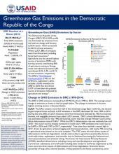 DRC GHG Emissions Factsheet cover