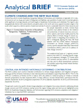 Analytical Brief: Climate Change and the New Silk Road