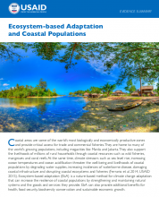 Ecosystem-based Adaptation and Coastal Populations
