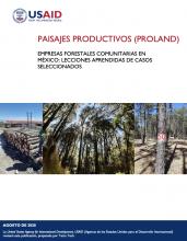 Empresas Forestales Comunitarias en México: Lecciones Aprendidas de Casos Seleccionados photo