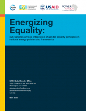 Energizing Equality: Sub-Saharan Africa's Integration of Gender Equality Principles in National Energy Policies and Frameworks