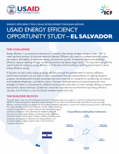 USAID Energy Efficiency Opportunity Study - El Salvador