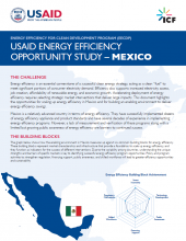 USAID Energy Efficiency Opportunity Study - Mexico