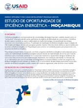 Estudo de Oportunidade de Eficiência Energética - Moçambique