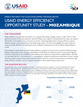 USAID Energy Efficiency Opportunity Study - Mozambique