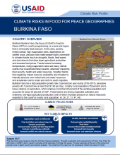 Climate Risks in Food for Peace Geographies: Burkina Faso