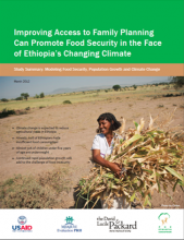 Improving Access to Family Planning Can Promote Food Security in the Face of Ethiopia's Changing Climate