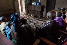 Family in rural Rwanda photo