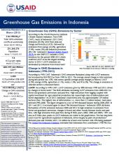 GHG Emissions Factsheet: Indonesia