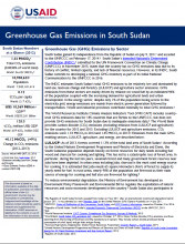 GHG Emissions Factsheet: South Sudan