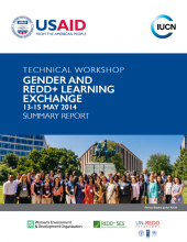 Gender and REDD+ Learning Exchange: Summary Report