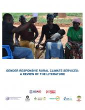 Gender Responsive Rural Climate Services: A Review of the Literature (cover)