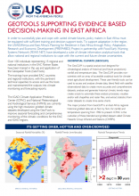 Geotools Supporting Evidence Based Decision-Making in East Africa