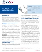Guatemala Climate Vulnerability Profile Thumbnail