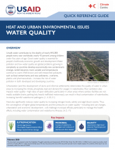 Heat and Urban Environmental Issues: Water Quality photo