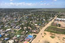 Beira, Mozambique from above, one year after Cyclone Idai.