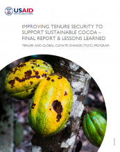 Improving Tenure Security to Support Sustainable Cocoa - Final Report & Lessons Learned