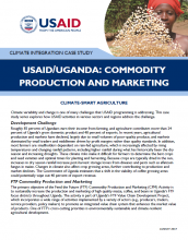 Climate Integration Case Study: USAID/Uganda's Commodity Production and Marketing