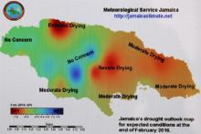 Jamaica drought map