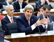 John Kerry speaks at the UNFCCC