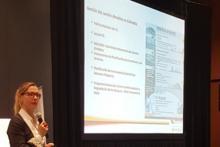 Laura Torres (MADS) presents on GHG harmonization