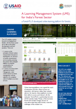 A Learning Management System for India's Forest Sector - Brochure