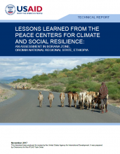 Lessons Learned from the Peace Centers for Climate and Social Resilience