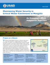 Maintaining Water Security in Critical Water Catchments in Mongolia