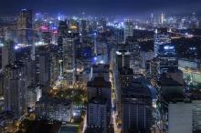 Manila, Philippines at night